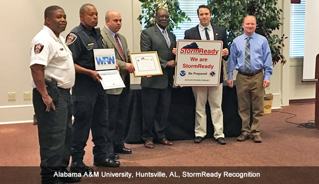 Alabama A&M University (Huntsville, AL) StormReady Recognition