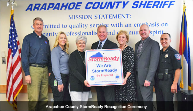 Arapahoe County, CO, StormReady recognition ceremony