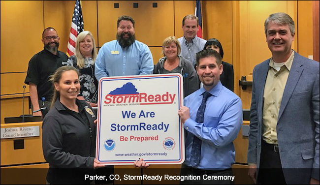 Parker, CO, StormReady recognition ceremony