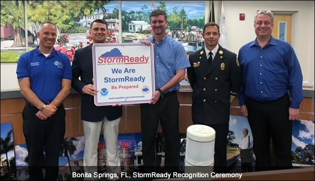 Bonita Springs, FL, StormReady Ceremony