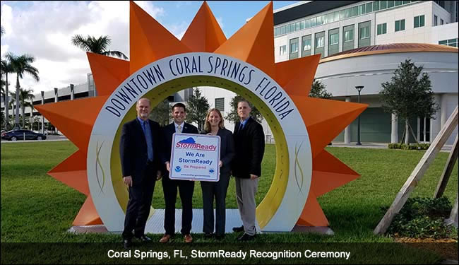 Coral Springs, FL, StormReady Recognition Ceremony
