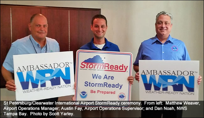 St Petersburg/Clearwater International Airport StormReady recognition ceremony