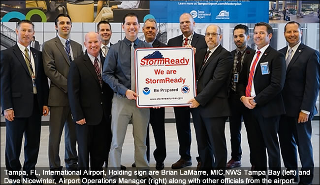 Tampa Internatinal Airport, FL, stormready recognition ceremony