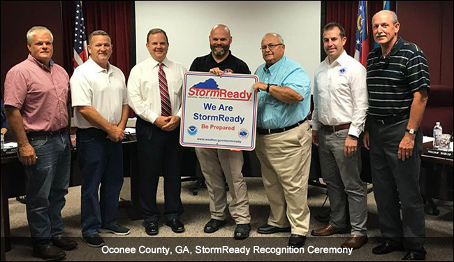 Oconee, GA, StormReady recognition ceremony