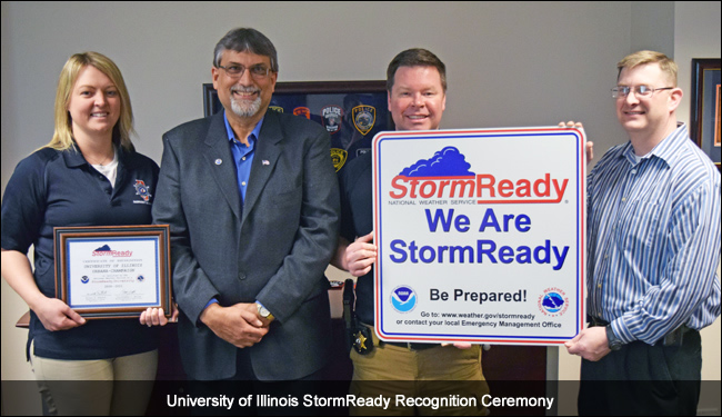 University of Illinois StormReady Recognition Ceremony