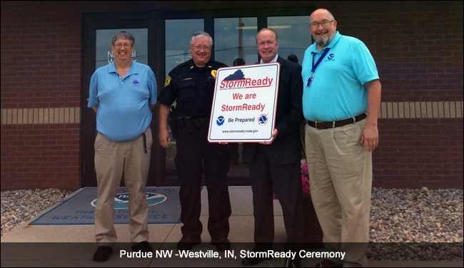 Purdue NW -Westville, IN, StormReady Ceremony