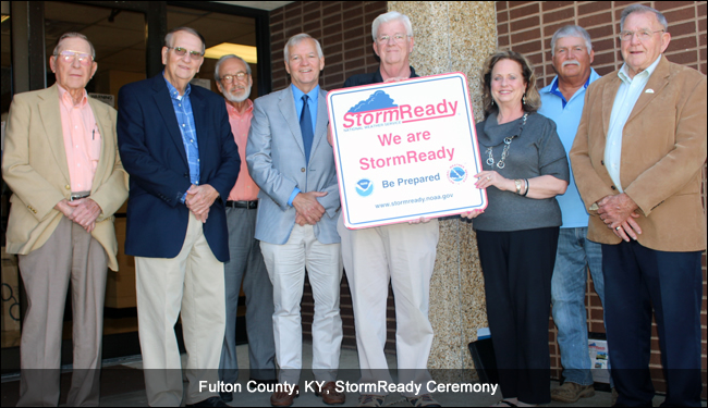 Fulton County, PA, stormready recognition ceremony