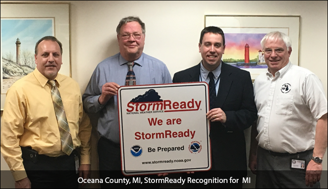 StormReady Recognition for Oceana County, MI
