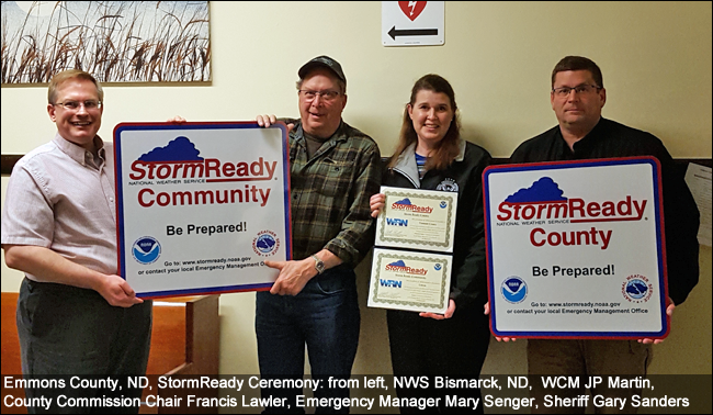 Emmons County Storm Ready ceremony