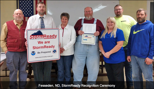 Fesseden, ND, StormReady Ceremony