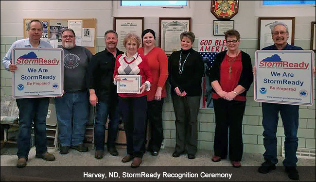 Harvey, ND, StormReady recognition ceremony