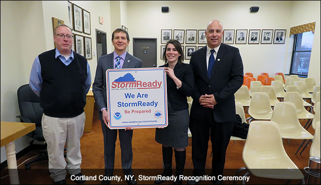Cortland County, NY, StormReady Ceremony