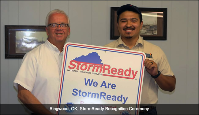 Ringwood, OK, StormReady Recognition Ceremony