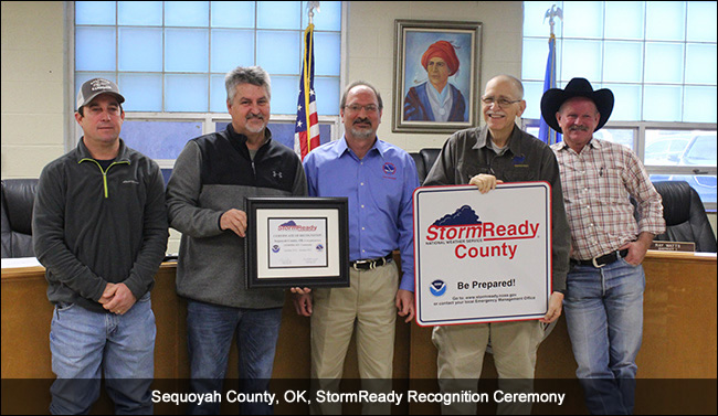 Sequoyah County OK StormReady Recognition Ceremony