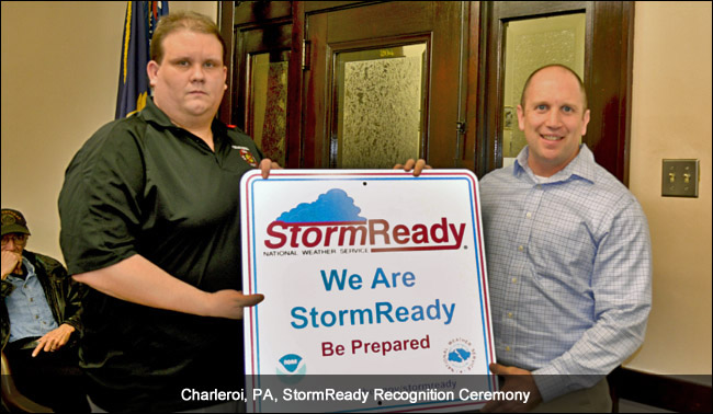 Charleroi, PA, StormReady Ceremony