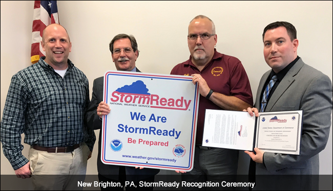 New Brighton, PA, StormReady Ceremony