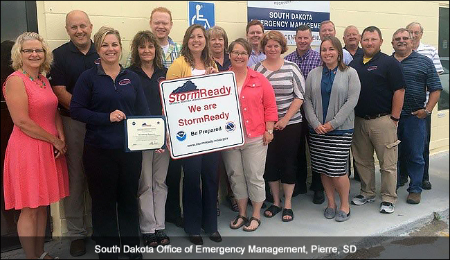 South Dakota Office of Emergency Management, Pierre, SD, stormready recognition ceremony