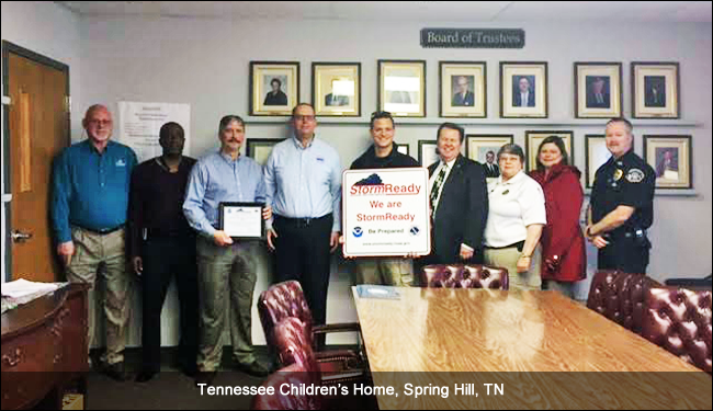 Tennessee Children's Home, Spring Hill, TN, Stormready recognition ceremony