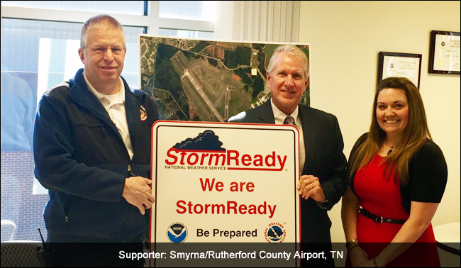 Supporter, Smyrna/Rutherford County Airport stormready recognition ceremony