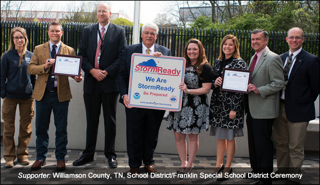 Williamson County School District/Franklin Special School District StormReady Supporter Ceremony