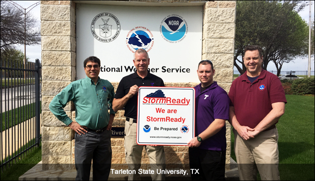 Tarletan State University, TX, Stormready recognition ceremony