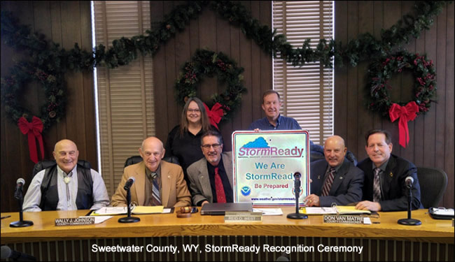 Sweetwater County, WY, StormReady Recognition Ceremony