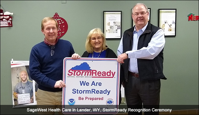 SageWest Health Care, Lander, WY StormReady recognition ceremony