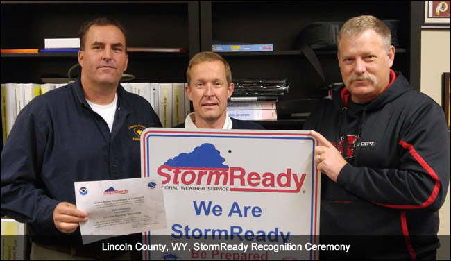 Lincoln County, WY, StormReady ceremony