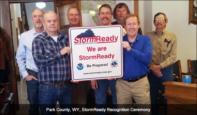 Park County, WY, StormReady Recognition Ceremony