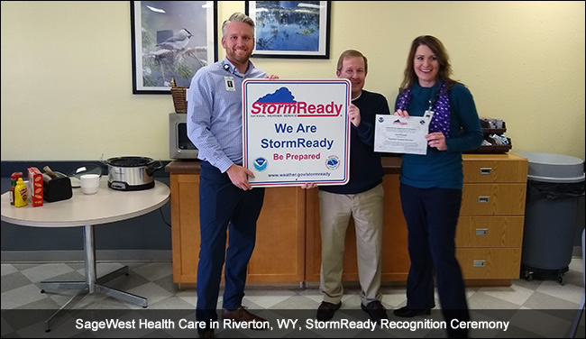 SageWest Health Care- Riverton, Wyoming StormReady Ceremony