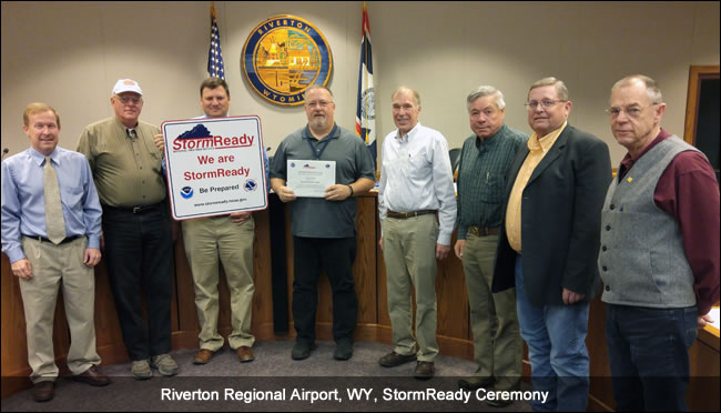 Riverton Regional Airport, WY, Stormready recognition ceremony
