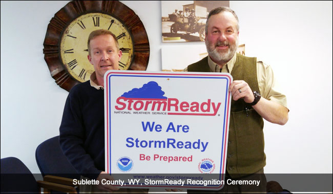 Sublette County StormReady recognition ceremony