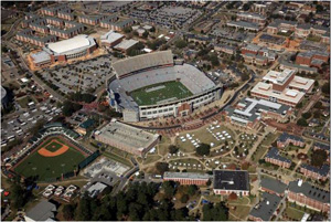 Auburn University campus and stadium