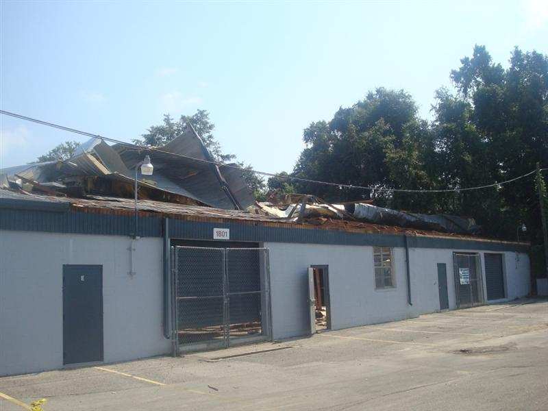 Roof damage to the Alltel store on South Monroe St. in Tallahassee.