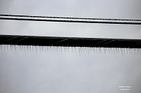 A close up of icicles on a power line in De Funiak Springs, FL. Photo courtesy of Keith Wilson.