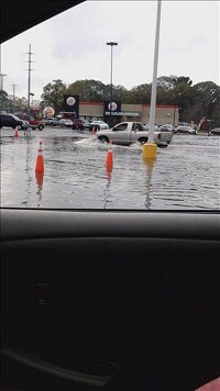 Flooding in moultrie, GA on December 24, 2014. Photo courtesy of WALB-TV.