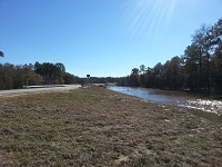 A view of the flooded Ochlockonee River at the GA SR 3 on December 26, 2014.
