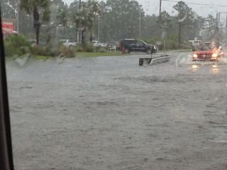 Flooding in Panama City Beach, FL on July 4, 2013.