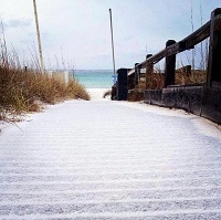 Sleet at Panama City Beach, FL submitted via by DearKt via Twitter to NWS Tallahassee.