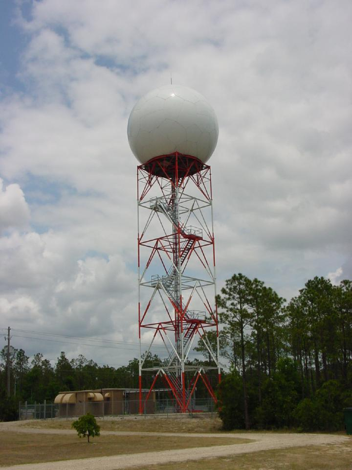 Photograph of the Radar Data Acquisition unit of the NWS Doppler radar that serves Tallahassee.