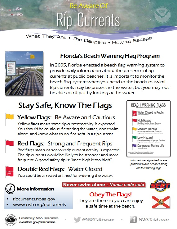 NWS Tallahassee: Rip Current Safety Page
