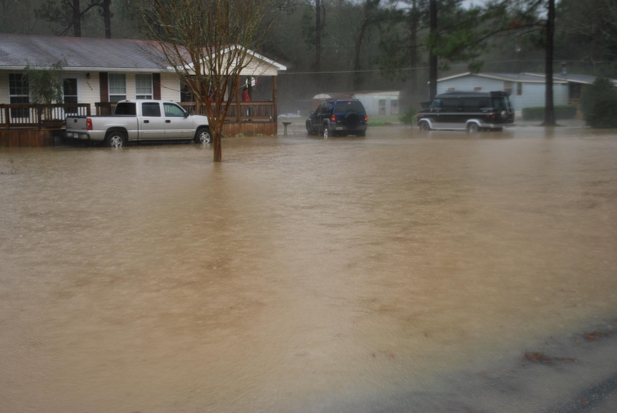 Flooding of a neighborhood in Worth County, GA on February 23, 2013. Photo courtesy of Kellie Parton.