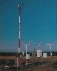 Photograph of the Automated Surface Observing System (ASOS) located at the Tallahassee Regional Airport.