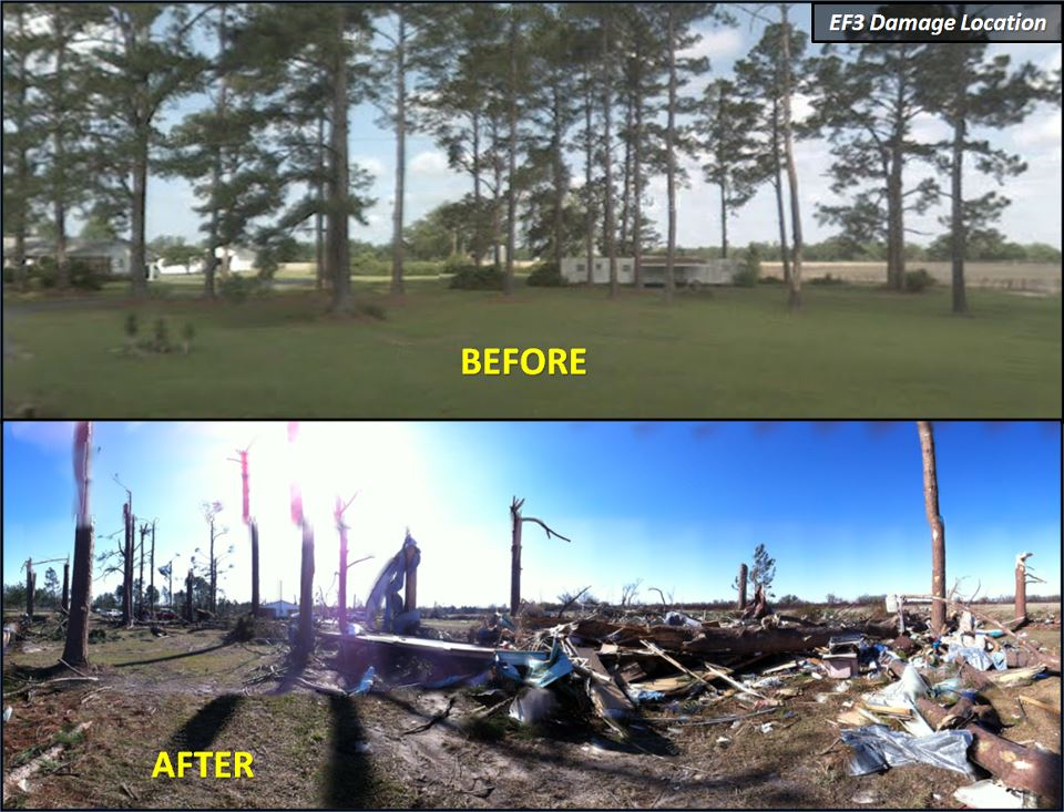 Ef5 Tornado Damage Before And After March 3,2012 Se...