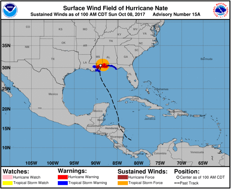 Show Map Of Florida Panhandle.Hurricane Nate Impacts Florida Panhandle And Southeast Alabama