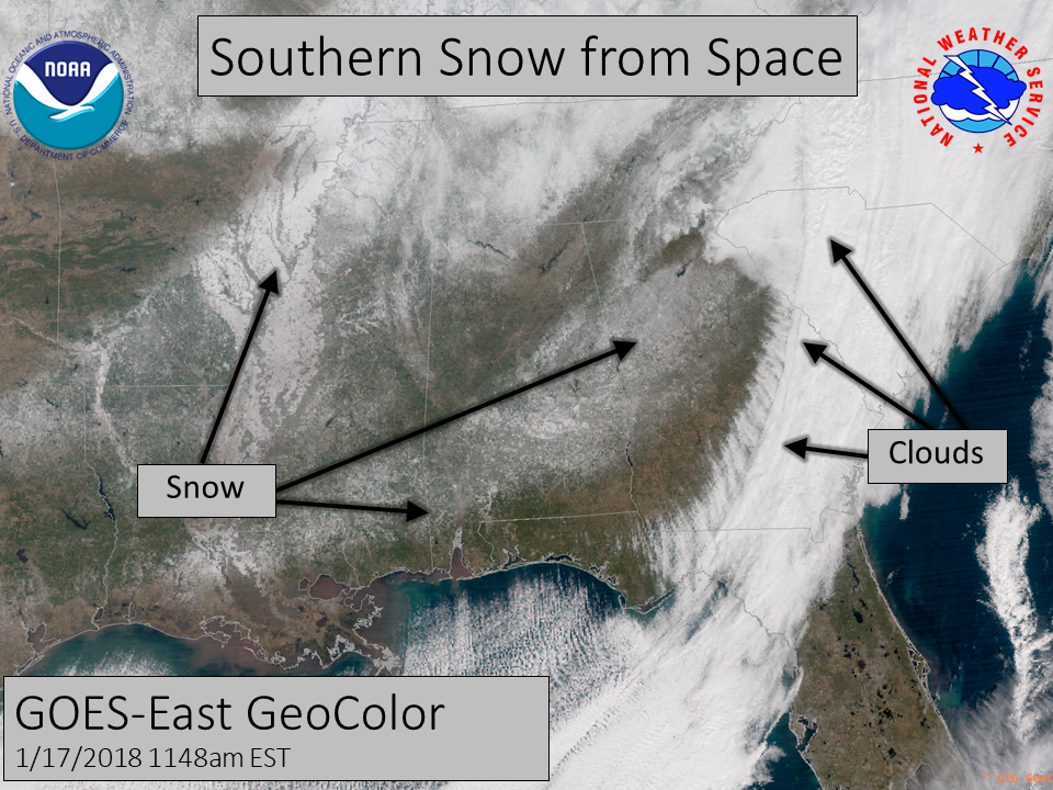 Satellite image or snow cover