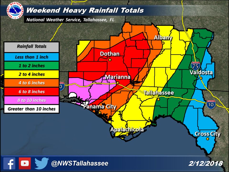 Map Of The Florida Panhandle.Active Weather Returns To The Region