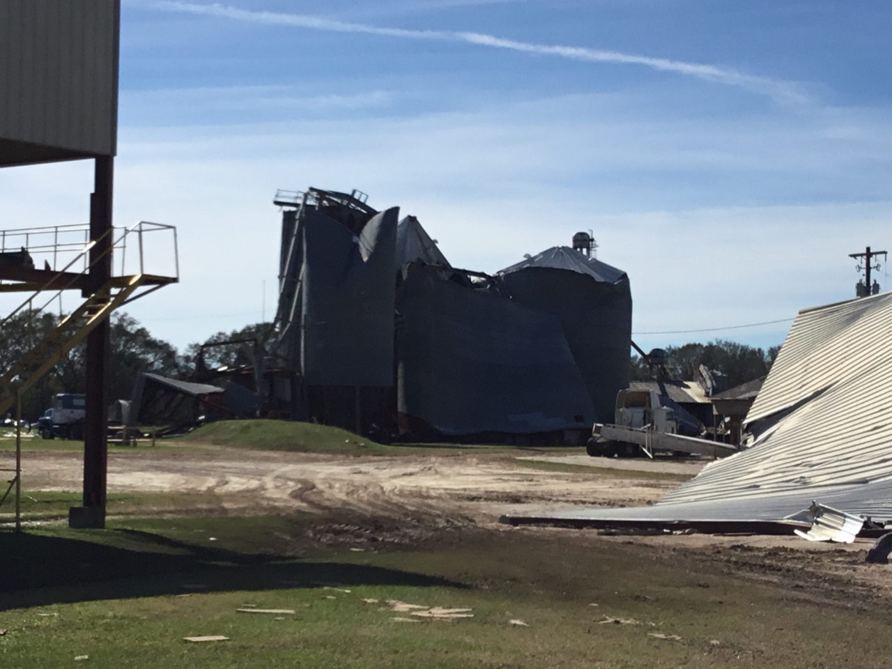 Damaged silo in Donalsonville
