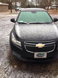 A sleet-covered car. Photo submitted to Talquin Electric and posted to their website.