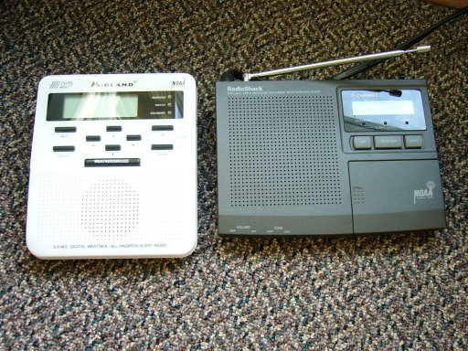 A photo of a typical NOAA Weather Radio receiver.